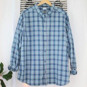 Columbia Men's Plaid Button Down Shirt Long Sleeve